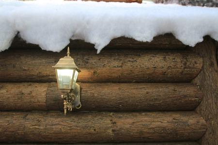 雪の家 写真素材