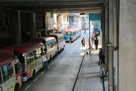 kwun tong bus terminal Stock Photo - 24376165