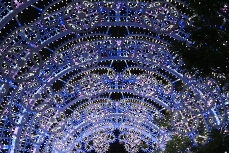christmas Lighting at hong kong photo