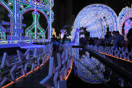 Beautiful decor on street made by LED