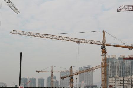 terminus: West Kowloon Terminus site Stock Photo