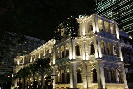 1881 년 크리스마스 축하 홍콩 문화 유산 전 시장 마켓 스퀘어