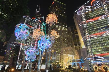 聖誕裝飾在香港繽紛冬日節