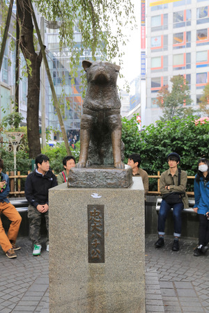 Hachikoas at Tokyoa is Shibuya railroad station