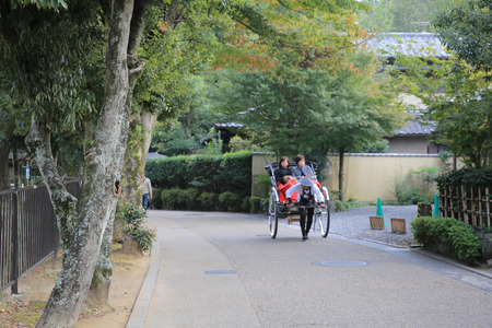 rickshaw service at Sagaarashiyama photo