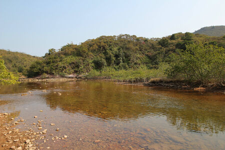 riverside landscaping: Sam A wan  , hong kong Stock Photo