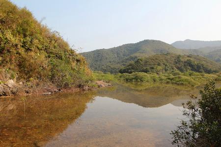 landscaping riverside: Sam A Chung, hong kong Stock Photo