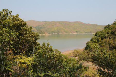 riverside landscaping: River in Sam A wan, hong kong Stock Photo