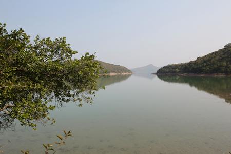 landscaping riverside: Sam A wan  , hong kong Stock Photo