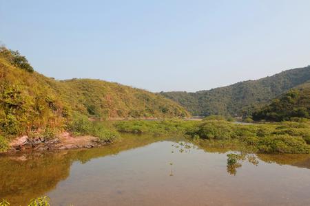 riverside landscaping: Sam A Chung, hong kong Stock Photo