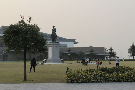 sen: Sun Yat Sen Memorial Park, hong kong Editorial