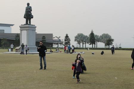 sen: Sun Yat Sen Memorial Park, hong kong Editorial