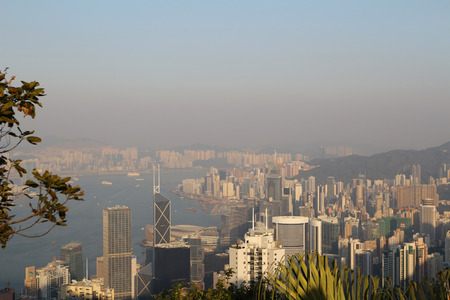 View of the Peak Tower in Hong Kong atop Victoria Peak photo