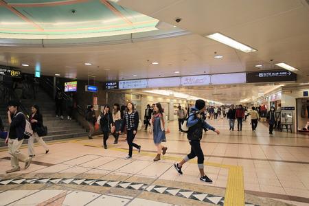 pedestrian walkway: pedestrian walkway at kyoto Editorial