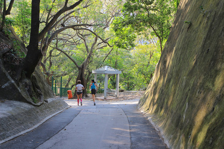 leading light: Bowen road  walkway