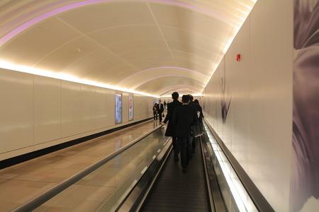 escalator in underground