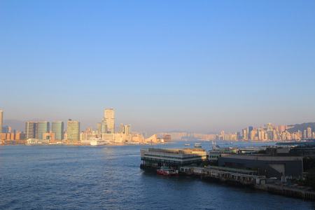 Victoria Harbour in Hong Kong photo