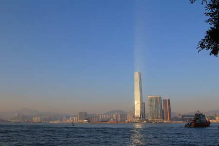 icc: Victoria Harbour in Hong Kong