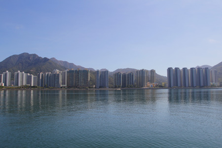liu: tolo harbour Landscape in Hong Kong  Ma On Shan Stock Photo