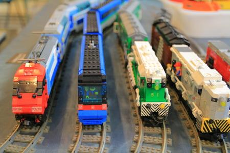 火車的樂高城市 新聞圖片