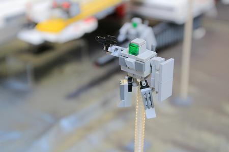 gundam of lego blocks