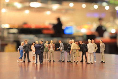 a small figures of business meeting 版權商用圖片