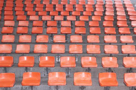 Orange stadium seats background Reklamní fotografie