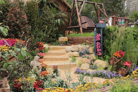 flowering plants: garden Stock Photo