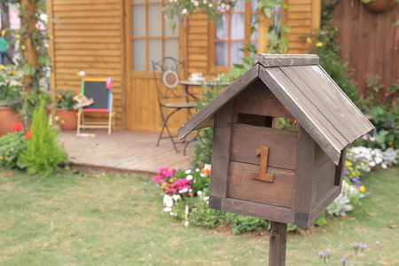 Unique letter box in the shape of a house, photo