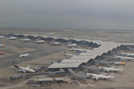 atmosphere construction: Chek Lap Kok Airport, Hong Kong