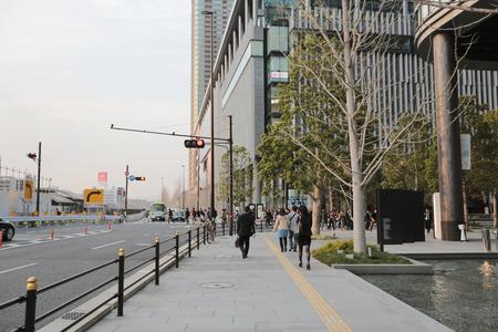veiw: Veiw at street in Osaka, Japan  Editorial