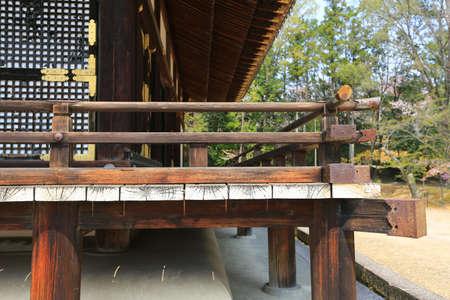 ninnaji: Japan Kyoto Ninna-ji Temple architectural detail close-up