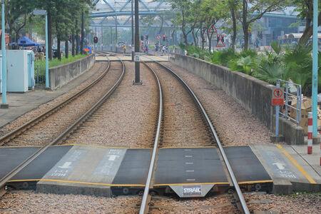 Light Rail  Hong Kong Stock Photo