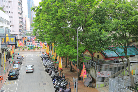 tramcar: shau kei wan, hong kong
