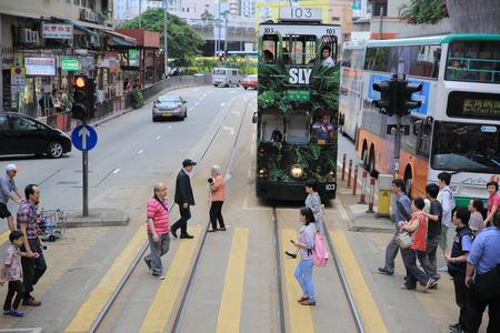 tramway: hong kong Tramway