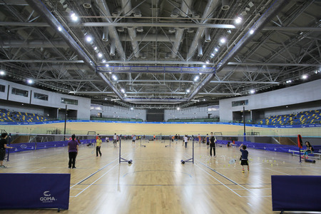 high ceiling: indoor sports court