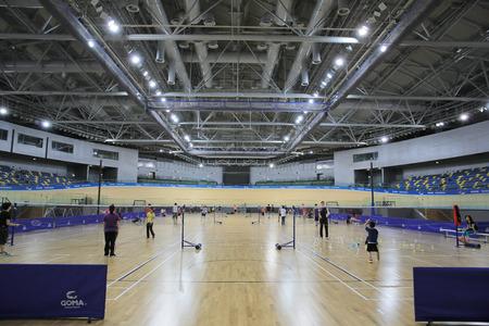 court room: indoor sports court