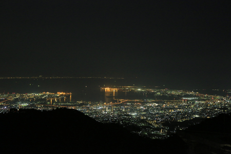 nishinomiya: kobe night view