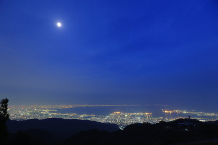 View of several Japanese cities in the Kansai region photo