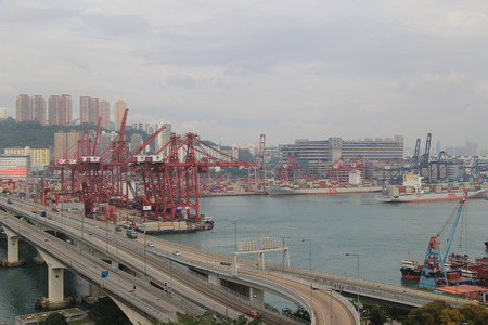 rambler: Containers in Hong Kong Kwai Chung Container Terminal Editorial