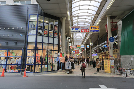 famous industries: Shinsaibashi-Suji a shopping  Editorial