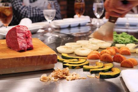 teppanyaki 스톡 콘텐츠