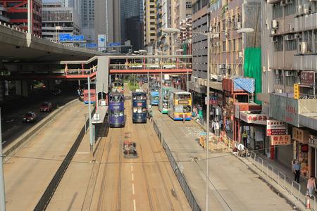 hong kong Tramway of sheung wan