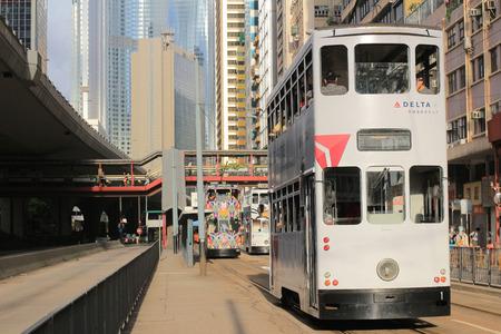 tramway: hong kong Tramway of sheung wan