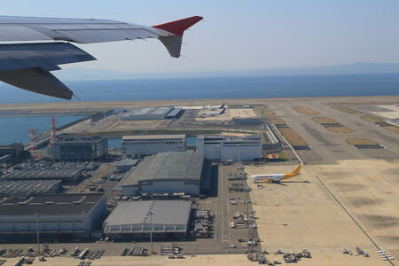 View from Window Plane in the Kansai Airport
