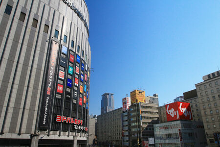 kink: OSAKA, JAPAN - transportation and building in Osaka