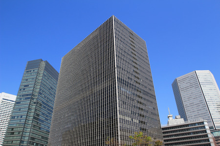 kink: City scene with many tall office buildings at Umeda