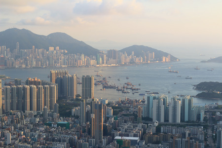 sham: view from Beacon Hill, hong kong Stock Photo