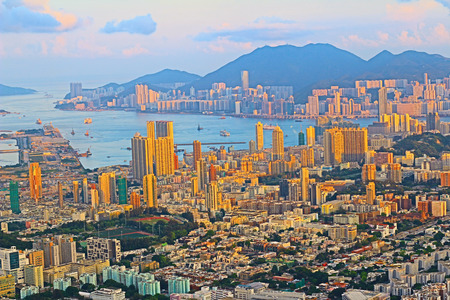 view from Beacon Hill, hong kong Stock Photo