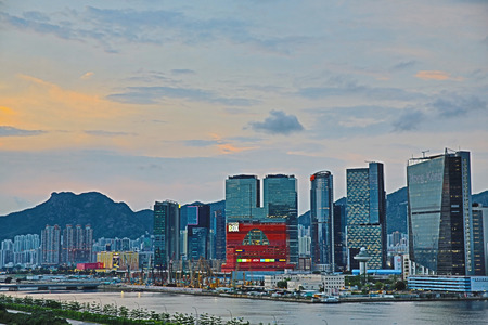 kowloon bay business Industrial area Editorial